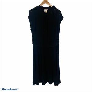 NWOT Love Squared Tie Neck Black Sheath Dress